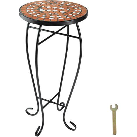 Guéridon mosaïque - tabouret à fleurs, table d´appoint, tabouret porte-fleurs