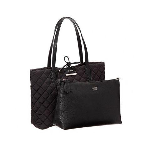 Guess A Pochette Sac Avec Hwnq6422150 Main Noir Femme Reversible Bobbi zLMGSVqUp