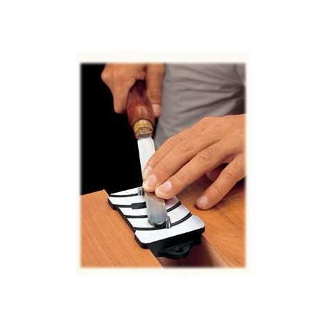 Guía con topes para el afilado de raspadores Veritas