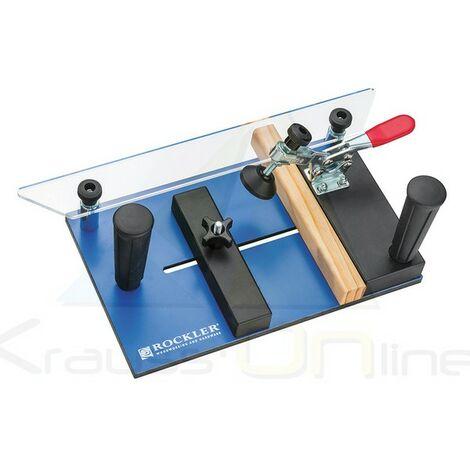 Guía deslizante para sujetar y fresar piezas de madera (Rockler-921727)