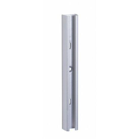 Guia Estante Cremallera 1Mt Aluminio Plata Alma