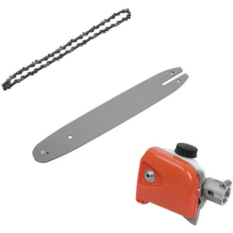 Guia motosierra engranaje caja de velocidades + + determinado de la placa de la cadena para la herramienta Stihl KM HT 73-130 Polo Serie sierra de recorte Conector Multifuncional Polo poda de sierra universal para la madera, de 26 mm, 7 theeth