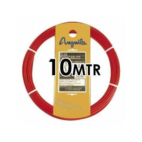 Guía Pasacable ACERO + Polipropileno 4MM 10MT Roja