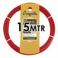 Guía Pasacable Acero + Polipropileno 4MM 15MT Roja