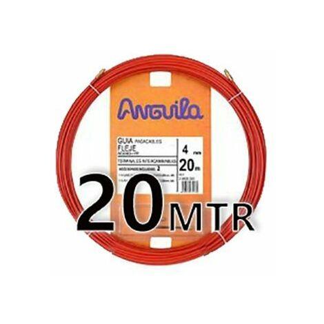 Guia Pasacable Acero + Polipropileno 4MM 20MT Roja