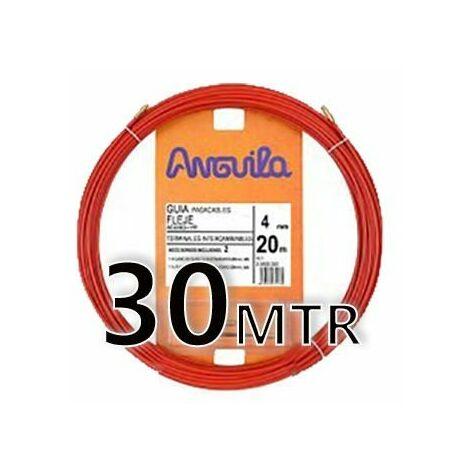 Guia Pasacable Acero + Polipropileno 4MM 30MT Roja