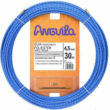Guia Pasacables Anguila 70450030 MAX 4,5mm Triple.Trenzado.30mt Azul