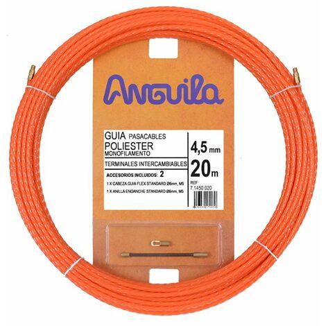 Guia Pasacables Anguila 71450020 MAX 4,5mm Triple.Trenzado.20mt Naranja