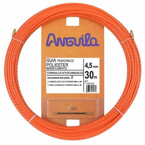 Guia Pasacables Anguila 71450030 MAX 4,5mm Triple Trenzado.30mt Naranja