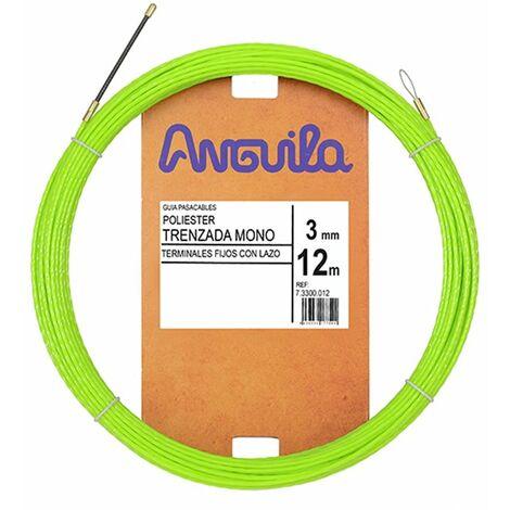 Guia Pasacables Anguila 73300012 MAX 3mm Triple Trenzado.12mt Verde