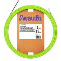 Guia Pasacables Anguila 73300018 MAX 3mm Triple Trenzado.18mt Verde