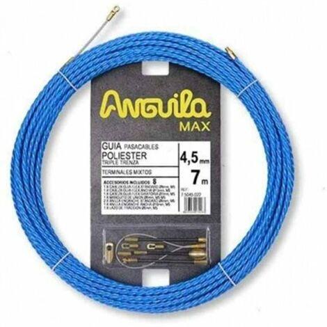 Guia Pasacables Anguila 75045007 MAX 4,5mm Triple.Trenzado.7mt Azul