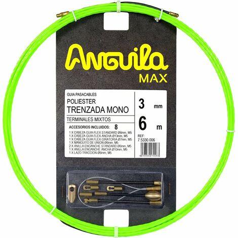 Guia Pasacables Anguila 75330006 MAX 3mm Triple Trenzado.6mt Verde