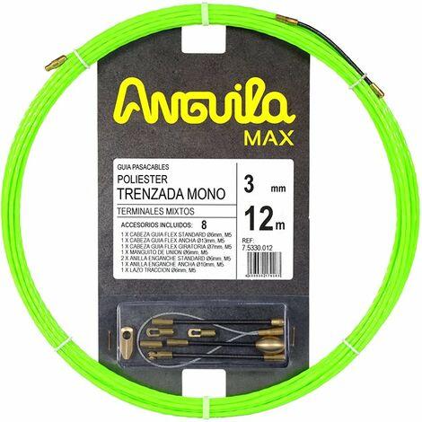 Guia Pasacables Anguila 75330012 MAX 3mm Triple Trenzado.12mt Verde