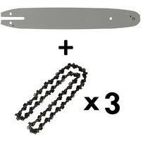 Guide 12 pouces (30 cm) avec lot de 3 chaînes 44 maillons pour multifonction 4 en 1 et outil sur perche