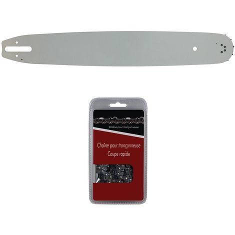 Guide 40 cm (16 pouces) + chaîne 60 maillons - Compatible tronçonneuses STIHL MS 291, 311 et 391