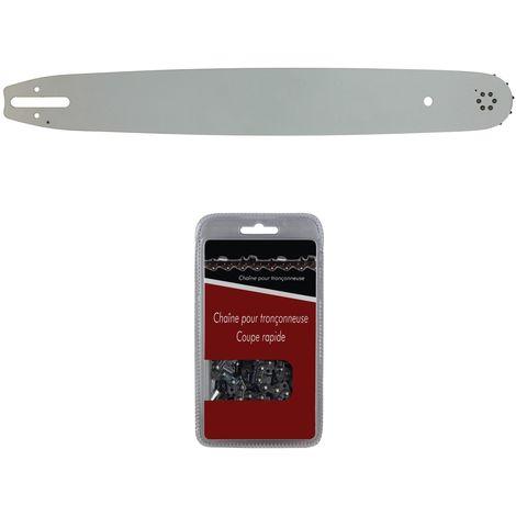 Guide 50 cm (20 pouces) + chaîne 72 maillons - Compatible tronçonneuses STIHL MS 291, 311 et 391