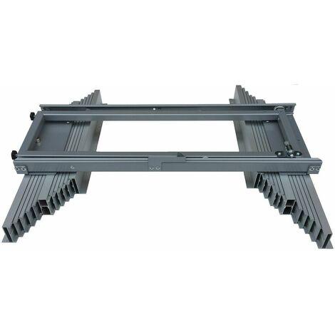 Gambe In Alluminio Per Tavoli.Guide Allungabili Con Gamba Centrale X Tavoli Consolle Estensibili