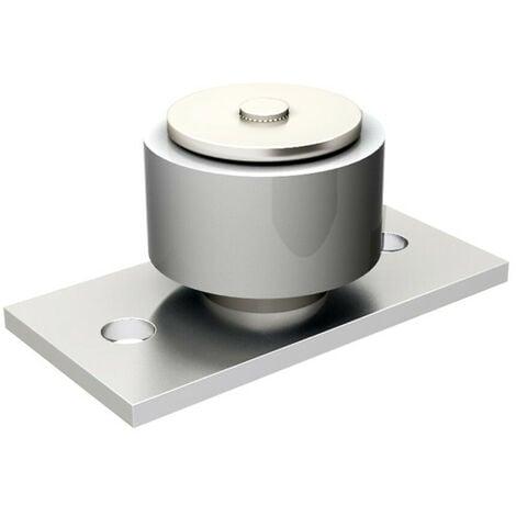 Guide avec platine monté sur cage à rouleaux, 1 olive Ø50 H25 mm