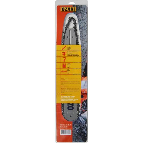 Guide + Chaîne OZAKI 40cm 3/8LP 0,50 57 maillons Montage ZA
