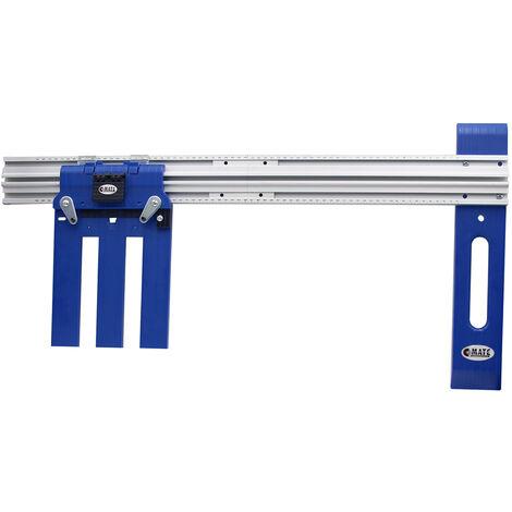 Guide de scie circulaire KKmoon Rip-Cut Guide de precision pour scie electrique Guide de coupe pour scie circulaire sans fil,modele:Bleu Bleu