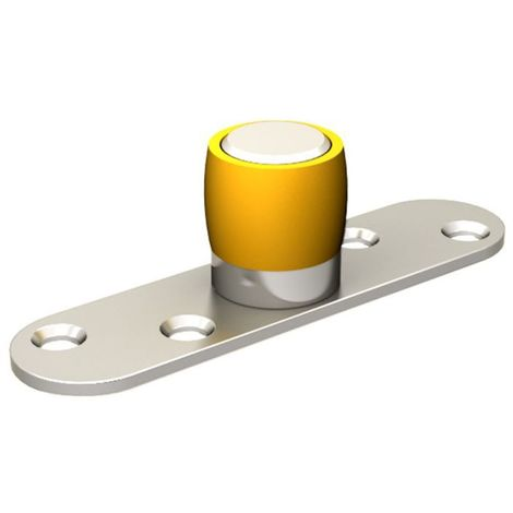 Guide olive en nylon Ø 24 mm sur platine en INOX 304L pour porte jusqu'à 200 kg