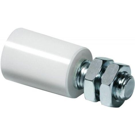 Guide supérieur réglable sur tige filetée 230 diamètre 24,5 mm pour porte coulissante sur fer plat