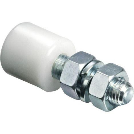 Guide supérieur réglable sur tige filetée 243 diamètre 30 mm pour porte coulissante sur fer plat