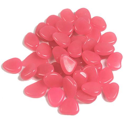 Guijarro acuatico fluorescente, 100 piezas, rosa, estilo 3