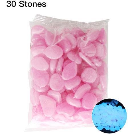 Guijarros fluorescentes, piedras de colores, 30 piezas, violeta claro, estilo 10