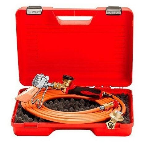 Guilbert Express - Valisette de couvreur avec détendeur + tuyau + manche à raccord 3/8G tournant coudée rapide + lance et panne 779 - TNT