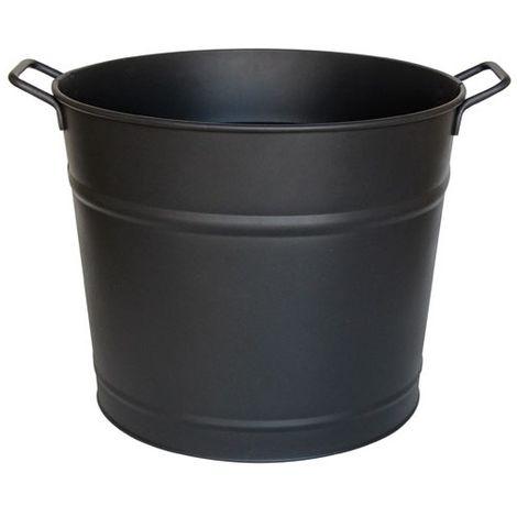 GUILLOUARD - Seau à bûches avec poignée 37 L - noir