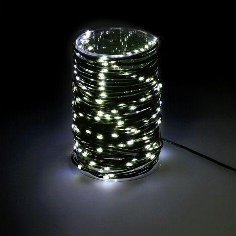 Guinalda Luces Navidad Microled 300 Leds Color Blanco Frio. Luz navidad interiores y exteriores IP44