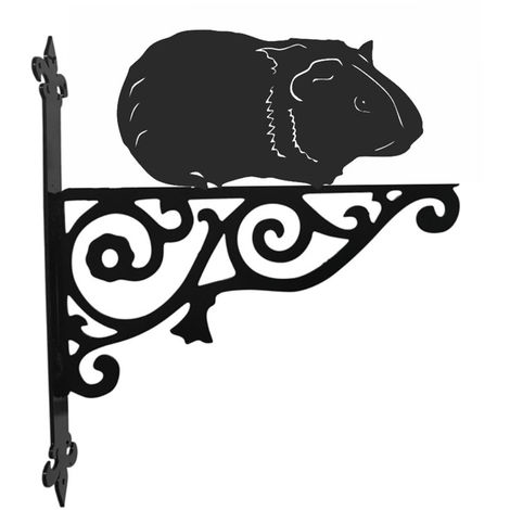Guinea Pig Ornamental Hanging Bracket