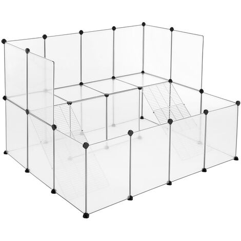 Guinea Pig Playpen, DIY Hutch Cage for Small Pet, White LPC004W01