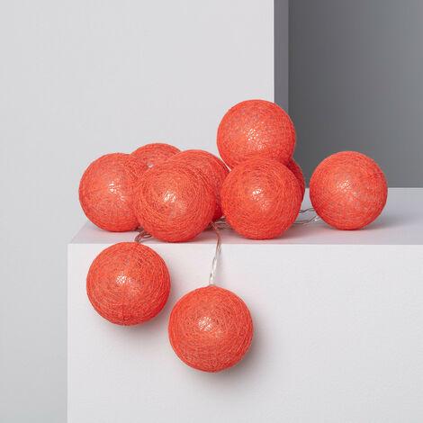 Guirlande 10 Boules LED Red Sugar