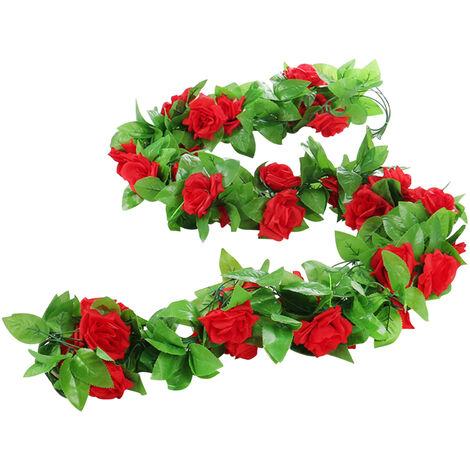 Guirlande De Fleurs Faux Rose Vigne Fleurs Artificielles Suspendues Rose Pour Mariage Arche Jardin Fond Maison Hotel Decor