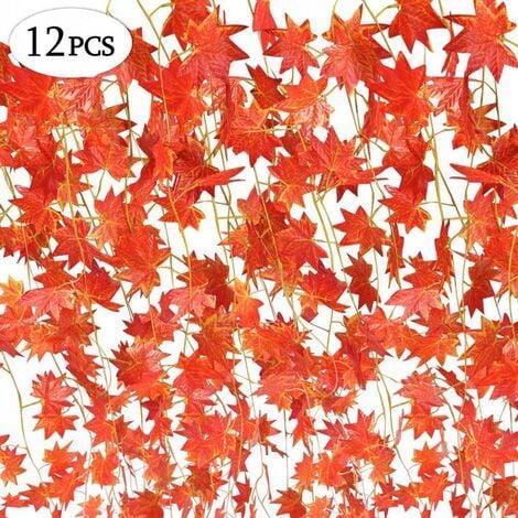 Guirlande de plantes de simulation de décoration de Noël 56 simulation de feuilles feuille d'érable rouge rotin 12