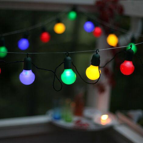 Guirlande fête avec crochet multicolore