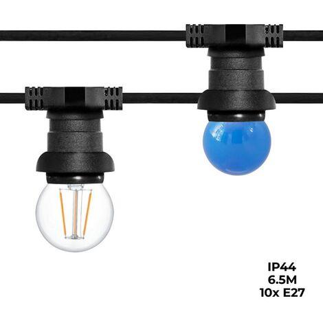 Guirlande guinguette extérieur 6.5m connectable en série
