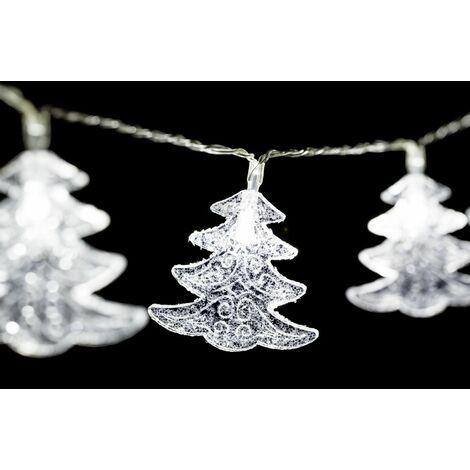 Guirlande intérieure de Noël à Led Xmas - L. 135 cm - Flocon - Blanc