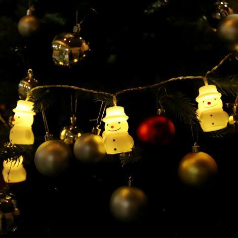 Guirlande led 10 lumineuse LED bonhomme de neige
