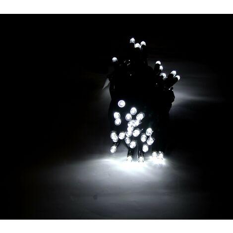 Guirlande LED 220V 5M IP44 50 LED raccordable (+connecteur) - Blanc Froid 6000K - 8000K