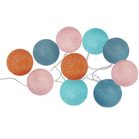 Guirlande lumineuse 10 boules LED pop - Multicolore