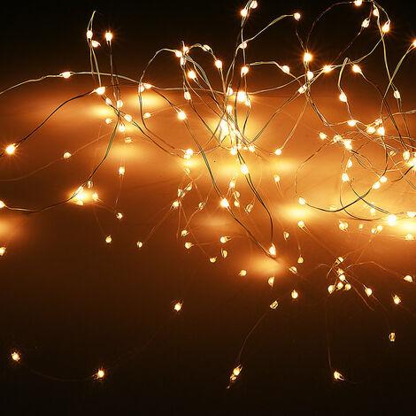 "main image of ""Guirlande Lumineuse 20,80, 100, 200 LED Décoration Noël Lumière Blanche chaude"""