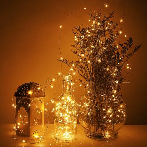 Guirlande Lumineuse 20,80, 100, 200 LED Décoration Noël Lumière Blanche chaude