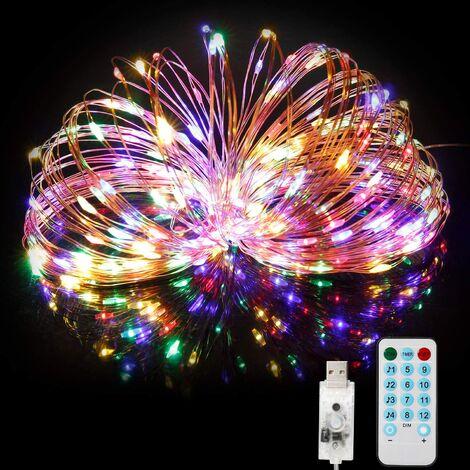 Guirlande Lumineuse 20M 200LED, Fairy Lights IP65 Etanche Décoration Romantique pour Sapin de Noël Mariage Fête Festival Anniversaire Jardin Terrasse Pelouse - Alimenté par USB