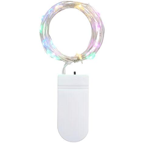 Guirlande lumineuse abatterie portable 20LEDs (sans batterie), multicolore 2 metres