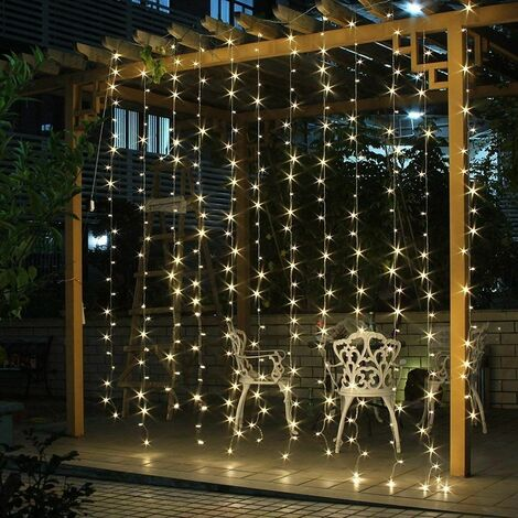 Guirlande lumineuse Coloré de Noël 300 LED 8 Effets d'Eclairage