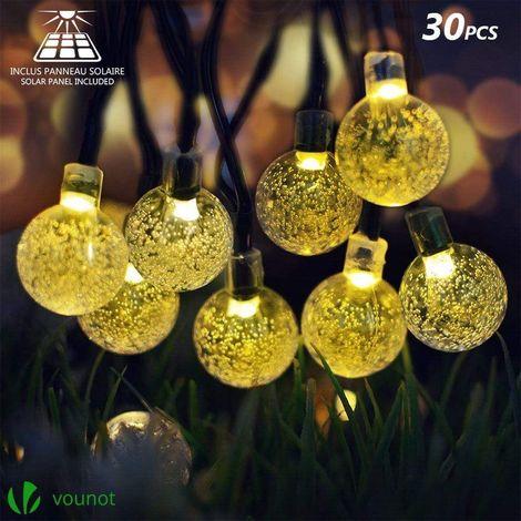 Guirlande lumineuse exterieur 30 boules LED